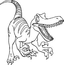 raptor disney dinosaur coloring page wecoloringpage