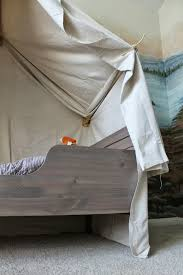 Canopy For Kids Beds by Remodelaholic Camping Tent Bed In A Kid U0027s Woodland Bedroom