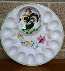 vintage deviled egg plate 56 best vintage platters and trays images on deviled