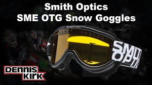 smith motocross goggles smith optics sme otg goggle youtube