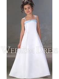 white spaghetti straps sleeveless floor length beading bow tie