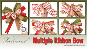 how to tie a bow using multiple ribbons youtube