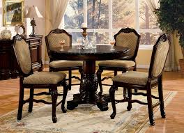 pedestal kitchen table and chairs 5 pc chateau de ville ii collection espresso finish wood round