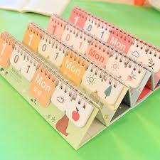 Small Desk Calendars Free Shipping Brief Small Perpetual Desk Calendar 2016 Multicolor