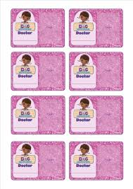 doc mcstuffins doc id badge doc mcstuffins party pinterest