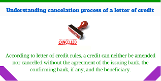 how to cancel a letter of credit lc