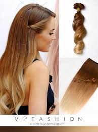 vpfashion hair extensions two colors ombre indian remy clip in hair extensions m3027 vpfashion