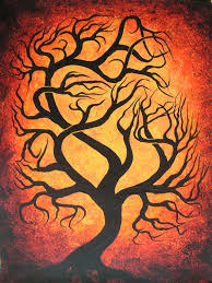 twisted tree original acrylic painting by by treeartist