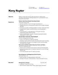Adjunct Instructor Resume Sample by Music Resume Resume Cv Cover Letter