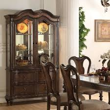 China Cabinet And Dining Room Set China Cabinet And Table Set Wayfair