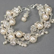 silver pearls bracelet images Wedding jewelry for brides couture bridal jewelry pearl jewelry jpg