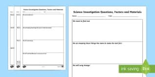 science report template ks2 ks2 science investigation worksheets science page 1