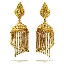 earrings gold rabbi gold plated dhoom arya big jhumka earrings high quality ebay