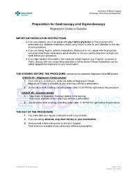 gastroscopy and sigmoidoscopy magnesium citrate ibd clinic