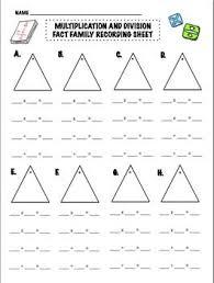 math fact families multiplication division fact family multiplication and division worksheets