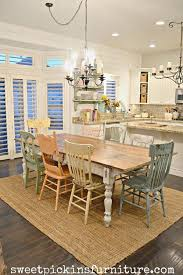 Chic Dining Room Shabby Chic Table And Mismatched Chairs Makeover Shabby Chic