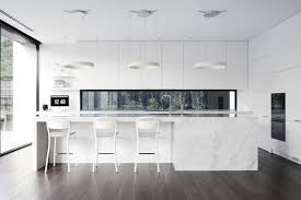 kitchen white glass table white glass window brown cabinet white