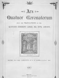 id s d oration chambre ars quatuor coronatorum volume 10 1897 freemasonry masonic lodge