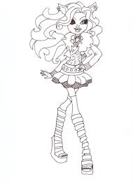 free printable monster high coloring pages clawdeen wolf free