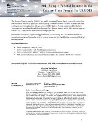 Usajobs Resume Examples Of Federal Resumes Federal Resume Sample And Format The