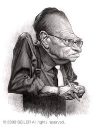 it u0027s funny because it u0027s true pencil sketch of larry king for sale