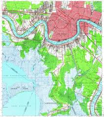 Map Of New Orleans Area by Download Topographic Map In Area Of New Orleans Metairie Harvey