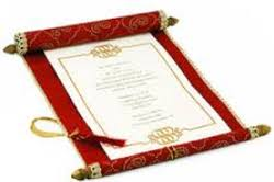 scroll invitations scroll invitation card in jaipur rajasthan manufacturers