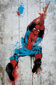 marvel comic book spider man spray paint canv marvel comics