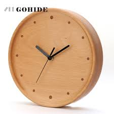 circular wood wall juh new arrival simple design circular wooden wall clock on wall