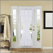 curtains for small windows beside front door http