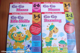 gakken go go series workbooks review giveaway diary of a new