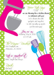 new kitchen themed bridal shower invitations decorate ideas cool