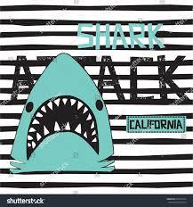 shark on striped background shark attack stock vector 692033974