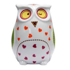 his and piggy bank owl piggy bank wayfair