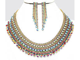 necklace set crystal images Cleopatra multicolor crystal bib necklace set jewel addicts jpg