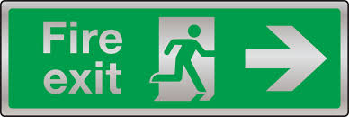 Fire Evacuation Route Plan by Fire Safety U2013 Prestige Fire Exit Route Arrow Right Sign Stocksigns
