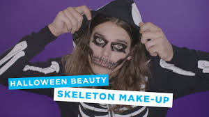 Halloween Skeleton Make Up by Primark Halloween Skeleton Makeup Youtube