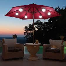Patio Umbrella String Lights Different Choice Of Patio Umbrella Lights Invisibleinkradio Home