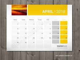 desk pad calendar 2018 monthly and weekly desk planers templates with yearly calendar