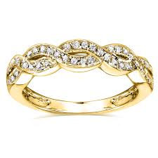 braided band braided band 1 8 carat ctw in 14k yellow gold
