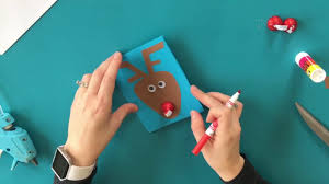diy hershey kiss reindeer christmas card kids craft youtube