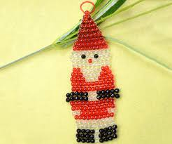 craft tutorial how to make a beaded santa claus ornament