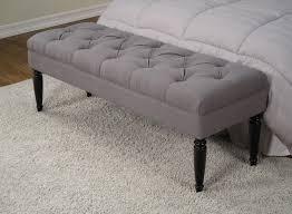 grey upholstered bench modern bedroom upholstered benches