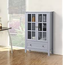 White Glass Cabinet Amazon Com Homestar Miranda Caninet With 2 Doors U0026 1 Drawer
