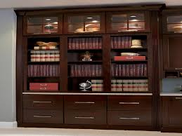 furniture home cherry bookcase with bottom drawers glass doors
