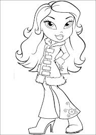 printable bratz coloring pages girls coloringstar
