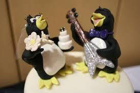 otter cake topper penguins wedding cake topper by tobberstoppers on deviantart