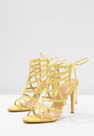 schutz women sandals high heeled sandals yellow schutz wedges