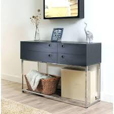 black sofa table with drawers half moon entry tables found it at half moon console table what