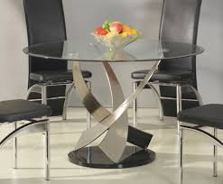 Glass Dining Table 4 Chairs Chair Glass And Chrome Dining Table Chletty Roun Glass And Chrome